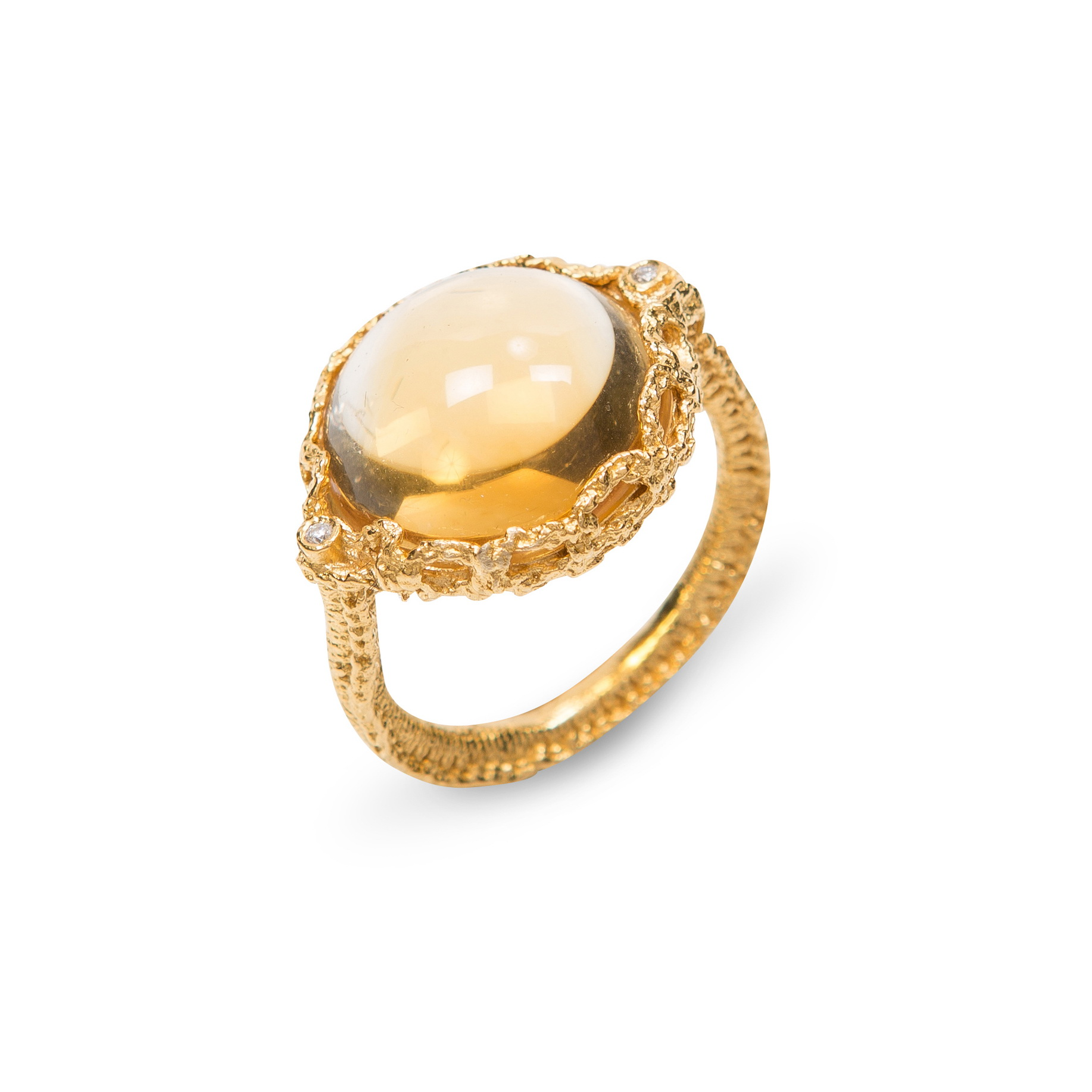 Empress of The Sun Ring Gold_ Citrine_ Diamonds