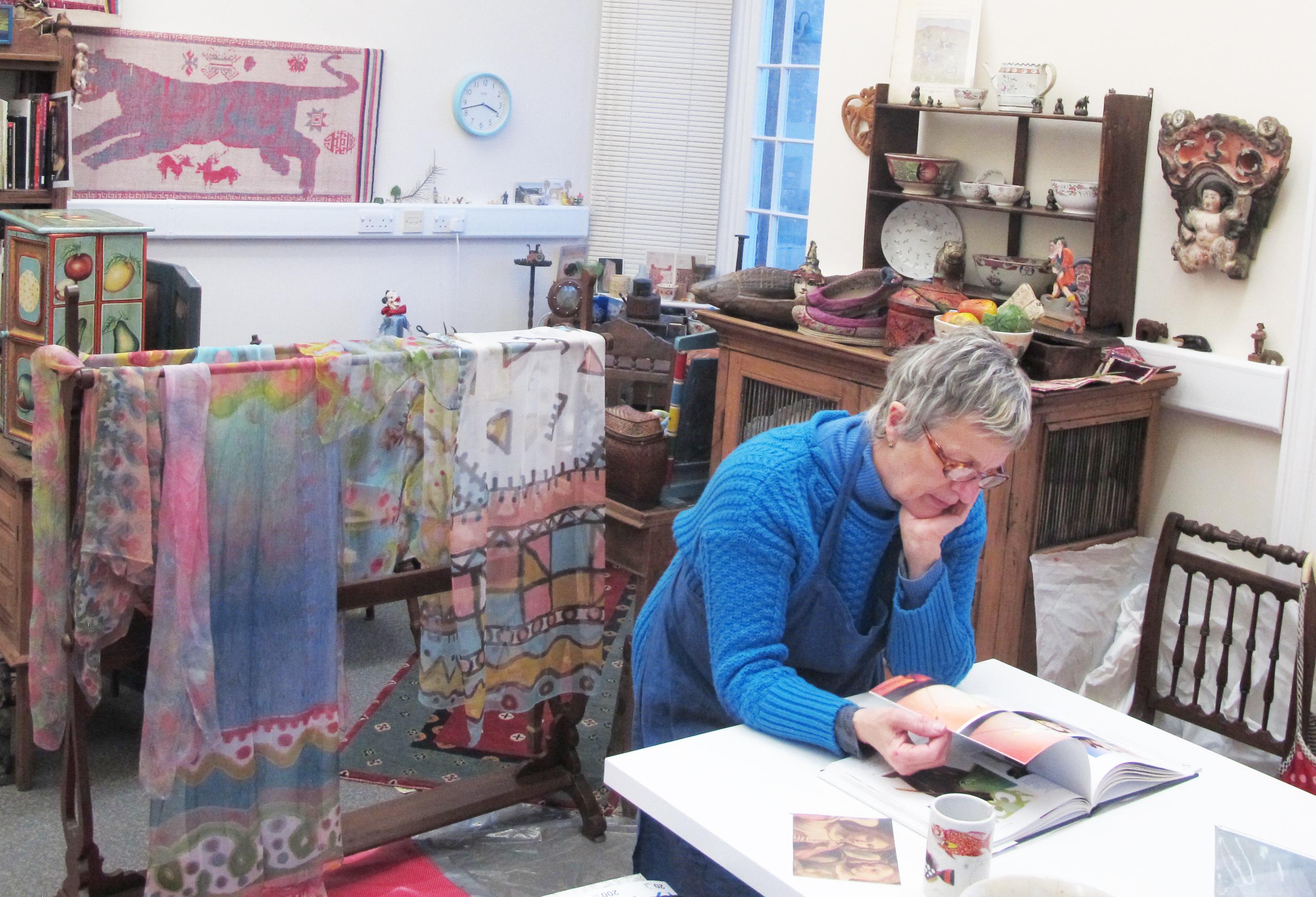 Susy Kirk in her studio 1